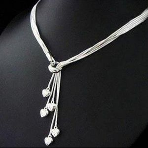 NWT 925 Sterling Silver Women Chic Necklace